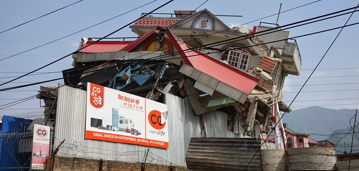 Earthquake damage in 2015 Nepal earthquake