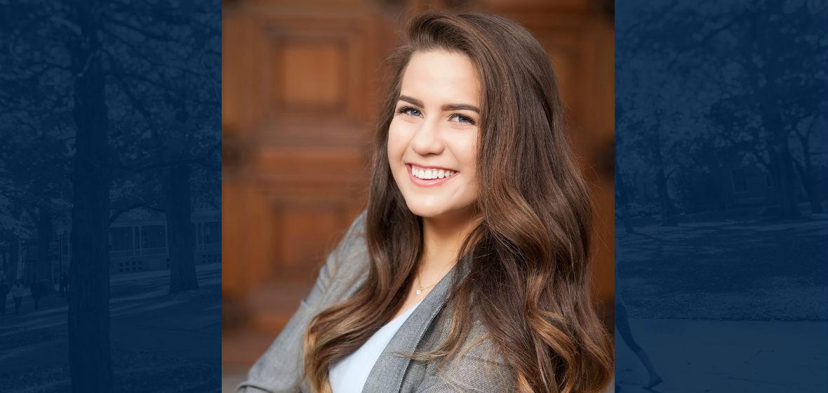 Sophomore student, Hannah Jackson