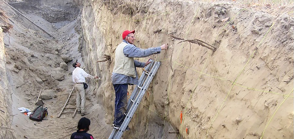 Wesnousky studies Nepal earthquake trench