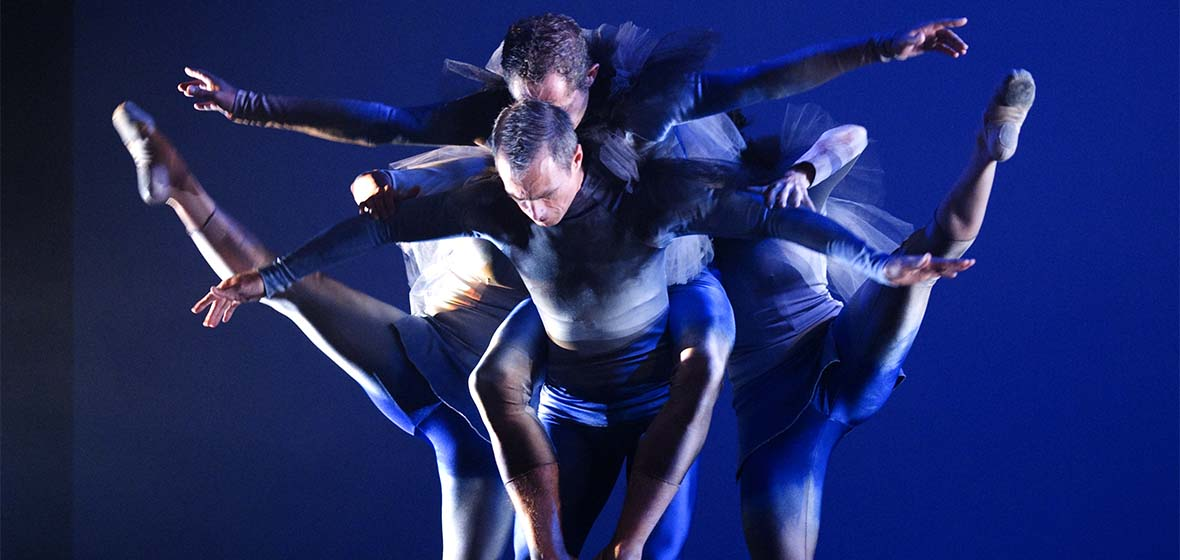 BodyVox dancers in unitards during a performance