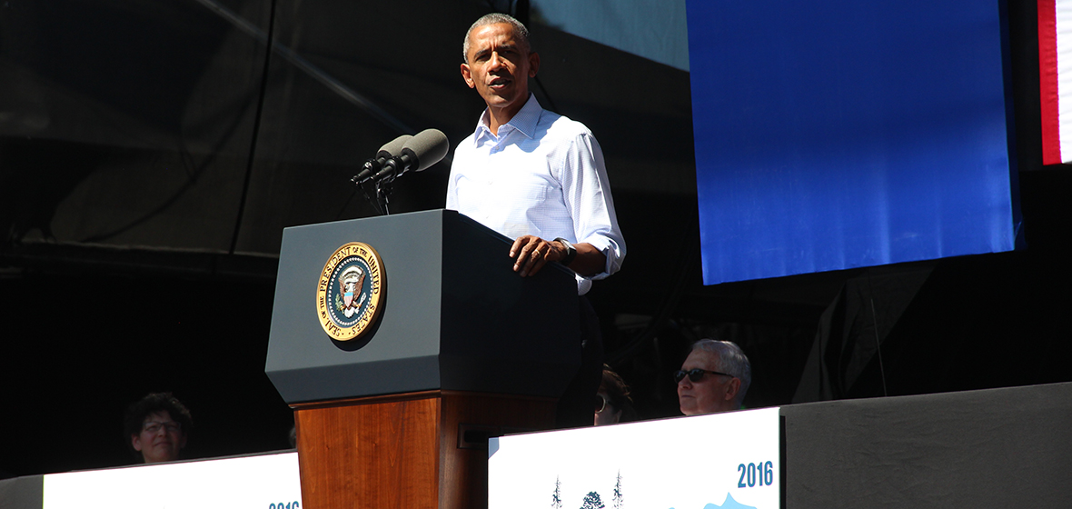President Obama at the Tahoe Summit