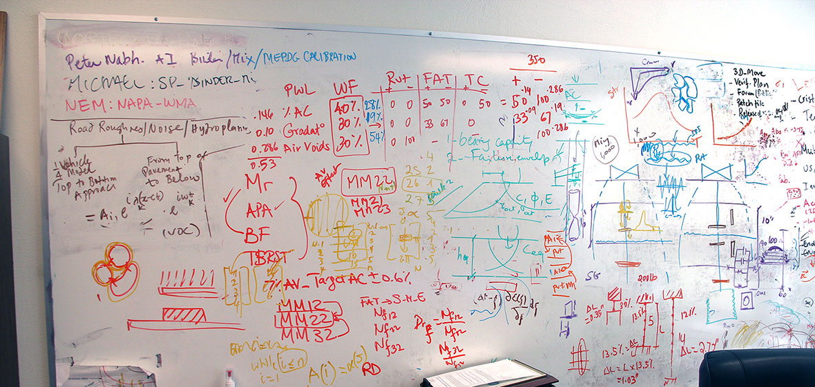 whiteboard with equations