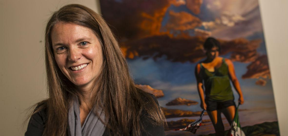 Deborah A. Boehm smiling for her photo shoot