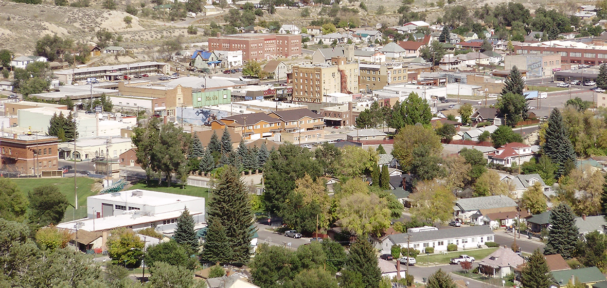 Ariel view of Downtown Ely Nevada