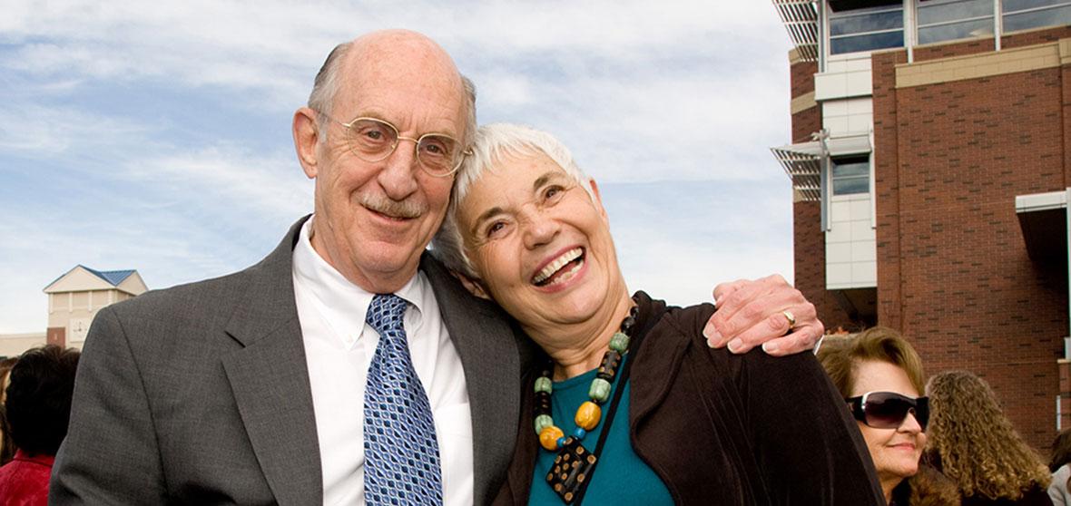 Joe Crowley and his wife Joy at the JCSU dedication ceremony