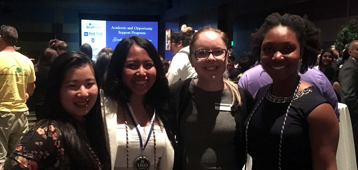 GEAR UP students attend a scholarship night at the University of Nevada, Reno