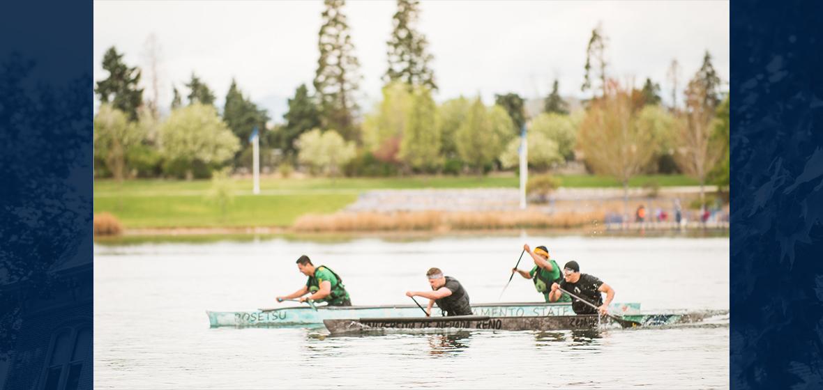 Concrete canoe racing