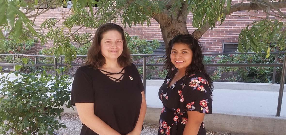Callie Adair and Stephanie Guevara Martinez