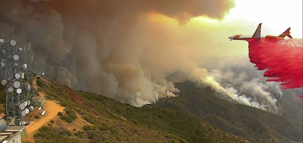 Holy Fire captured on Alert Wildfire camera