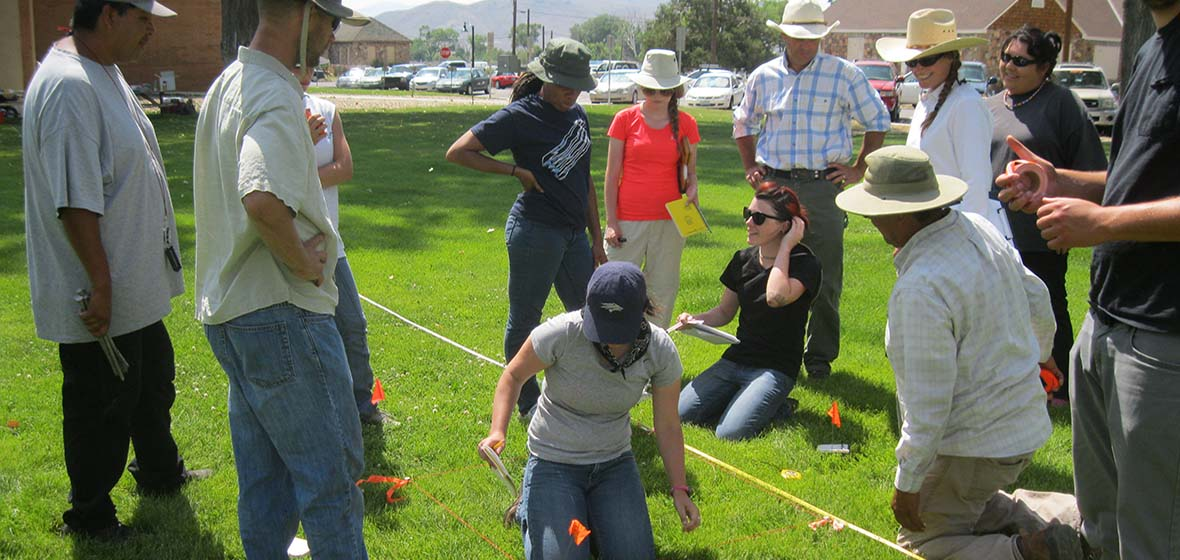 Team digs at Stewart Indian School site