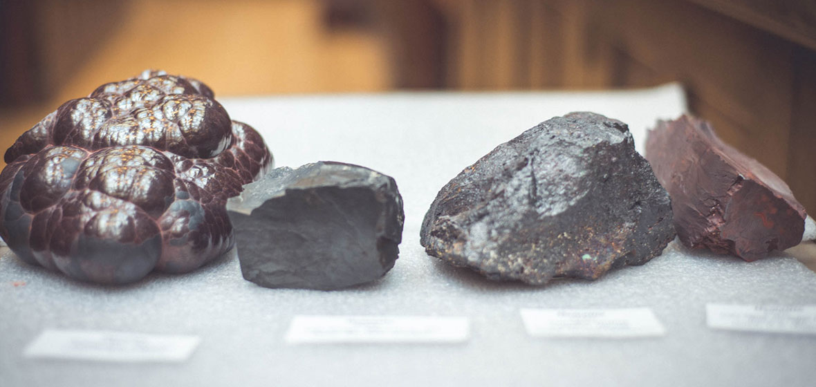 Four variations of hematite