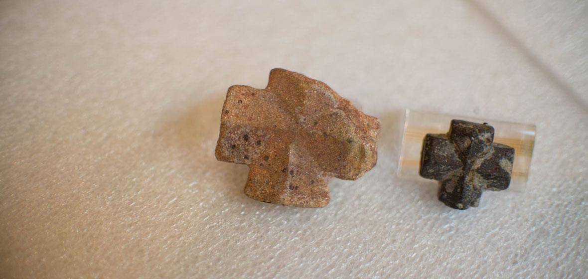 Two staurolite crystals