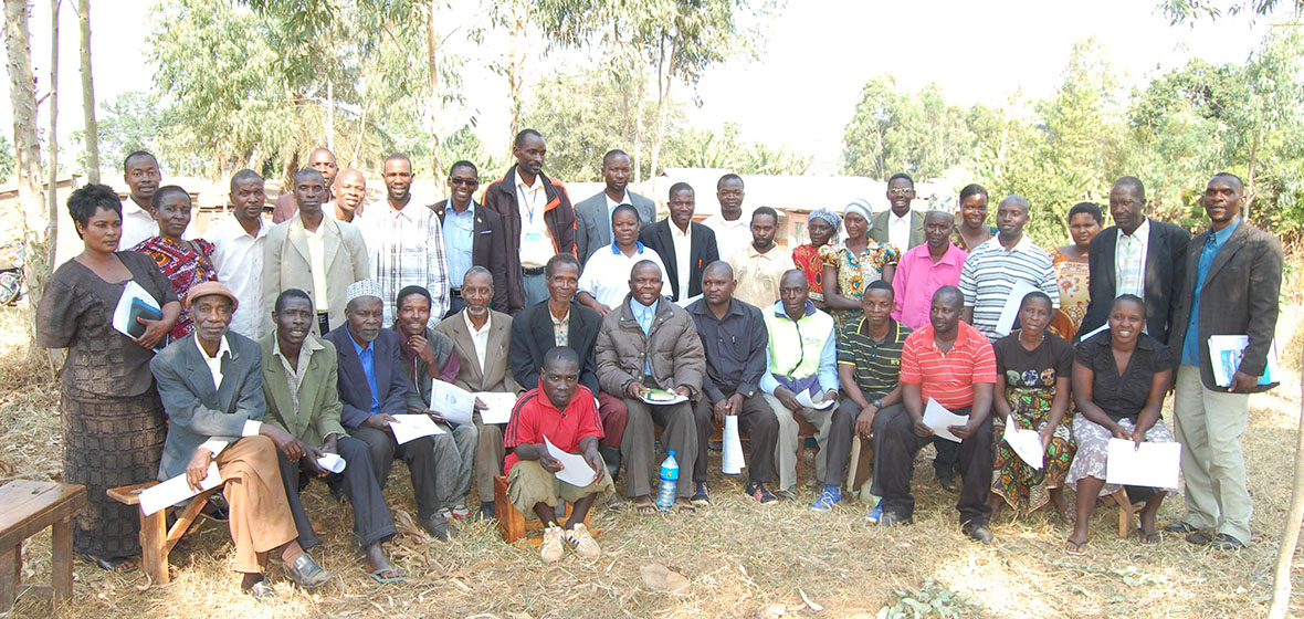 Liberatus with many others at a meeting with different community leaders