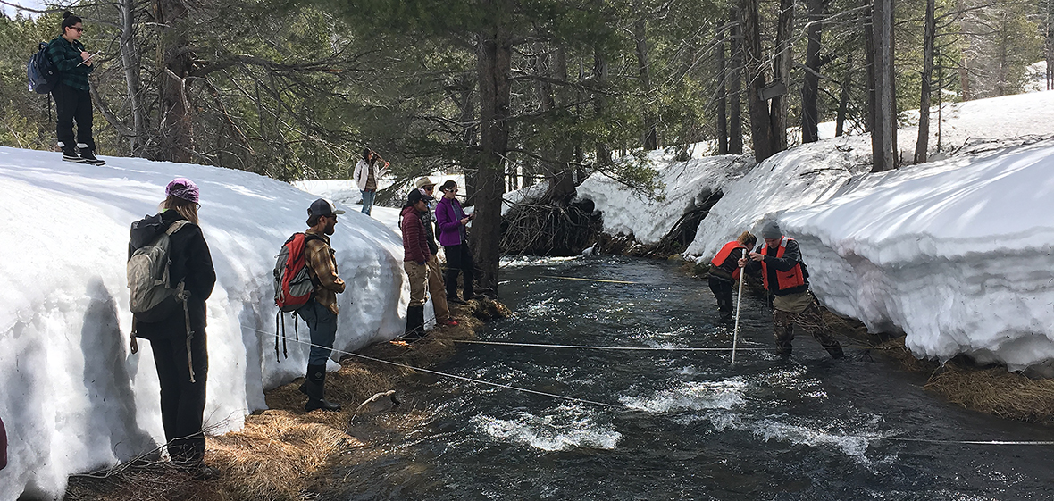 Watershed hydrology class measures stream flow