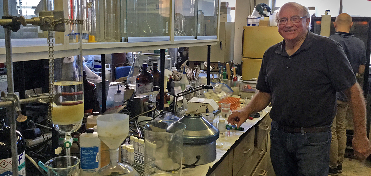 Glenn Miller working in lab