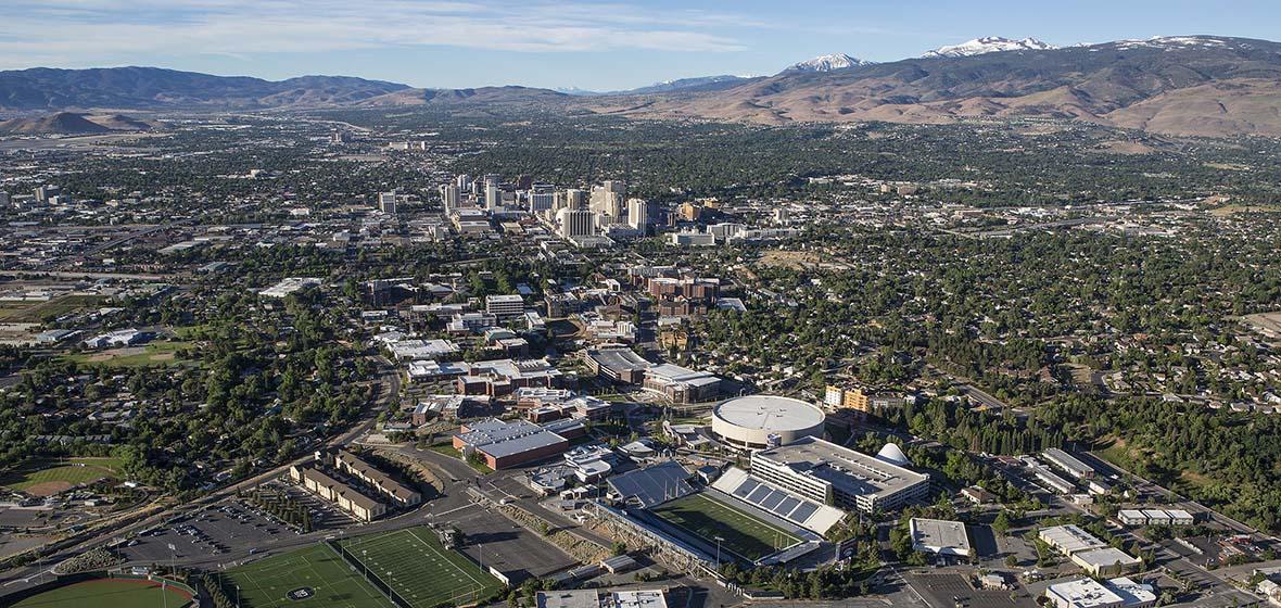 University of Nevada, Reno aerial photo