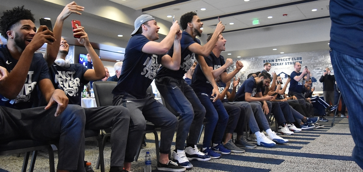 Wolf Pack players react to their selection to NCAA Tournament
