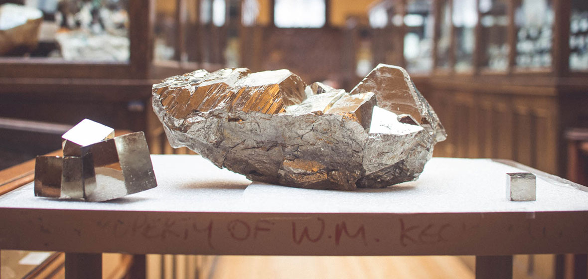 Pyrite on display