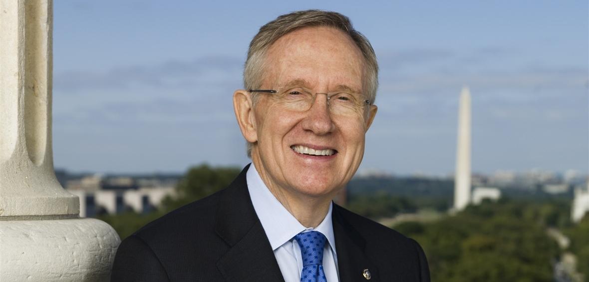 Former United States Senator Harry Reid pictured in Washington