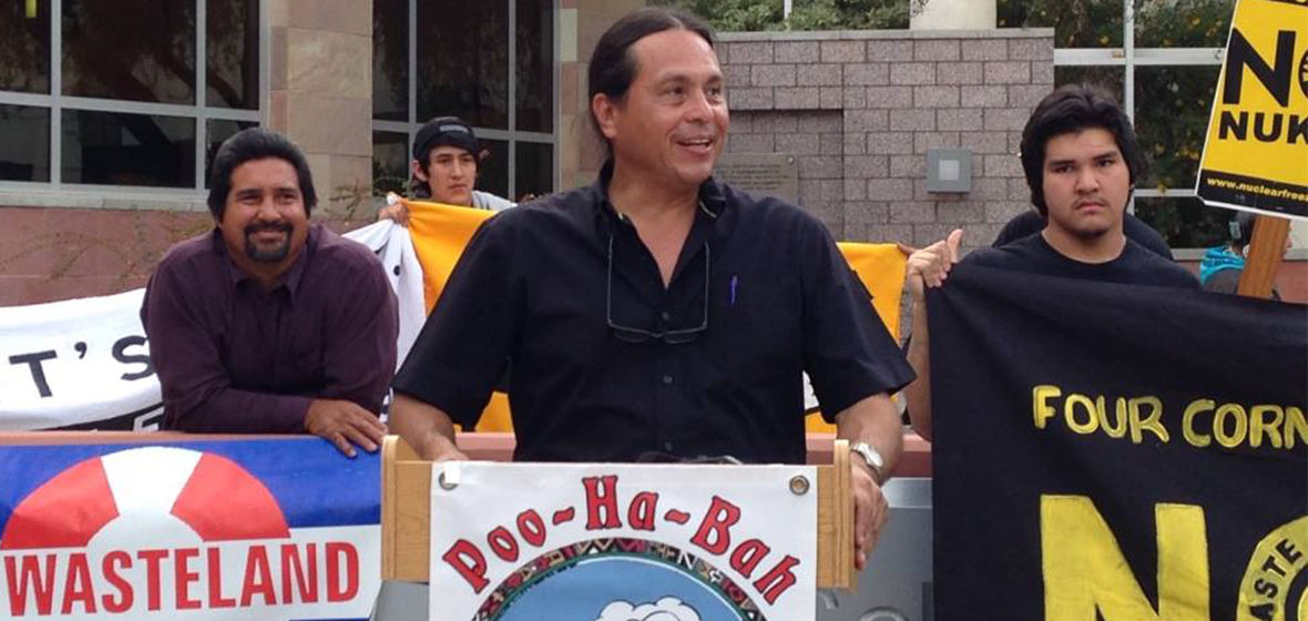 Zabarte (center) is Principal Man for the Western Bands of the Shoshone Nation, a member of the Native American Action Council and member of the United States Nuclear Regulatory Commission Yucca Mountain Licensing Support Network Advisory Review Panel