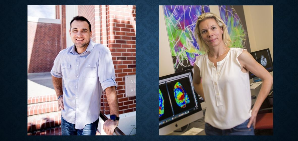 2 separate, side-by-side photos of Dr. Chalifoux and Dr. Snow