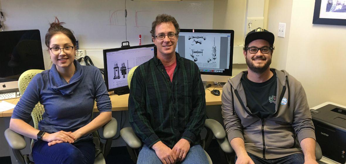 Associate Professor Gideon Caplovitz with members of The Caplovitz Vision Lab