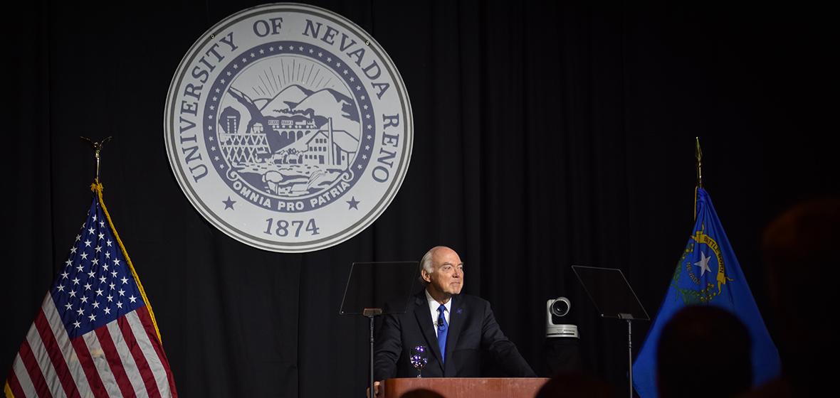 Marc Johnson at 2018 State of the University Address.
