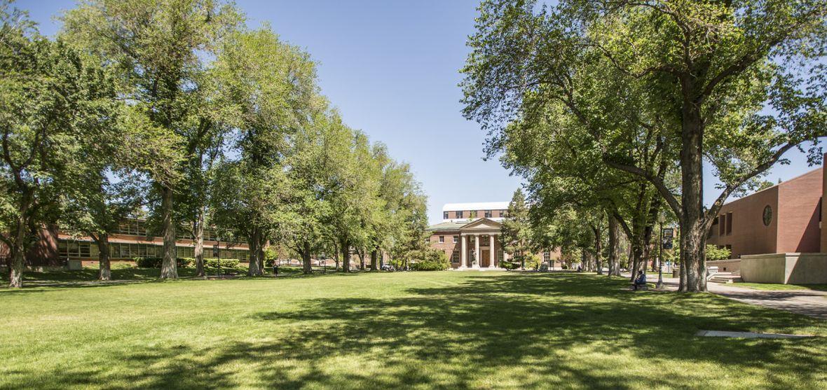 The outdoor Quadrangle at the University of Nevada, Reno