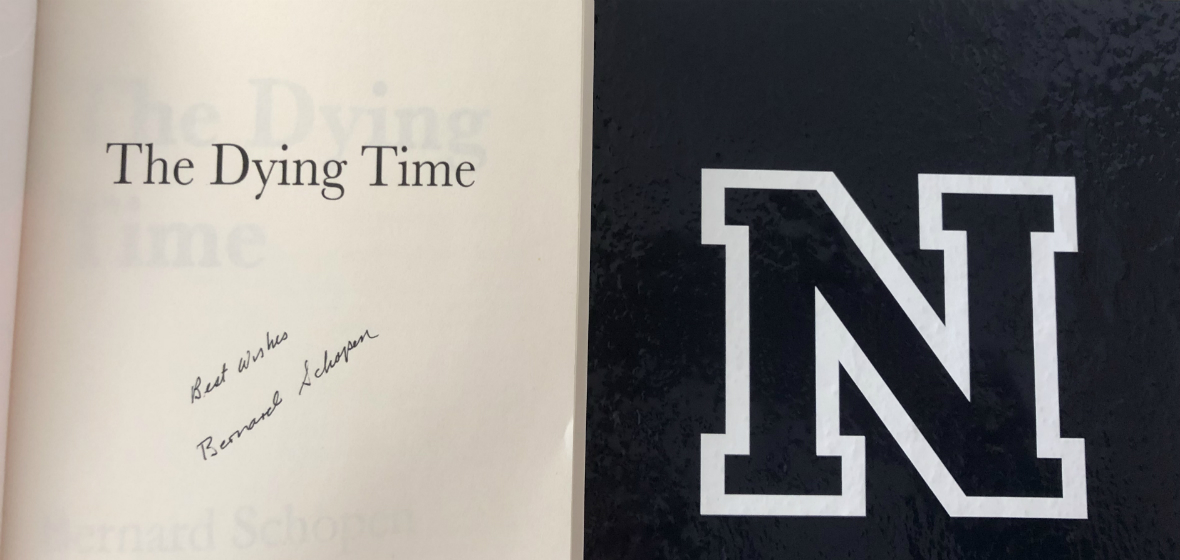 Bernard Schopen's book cover-- with best wishes inscribed