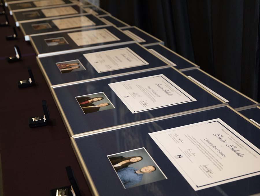 Plaques of the senior scholars