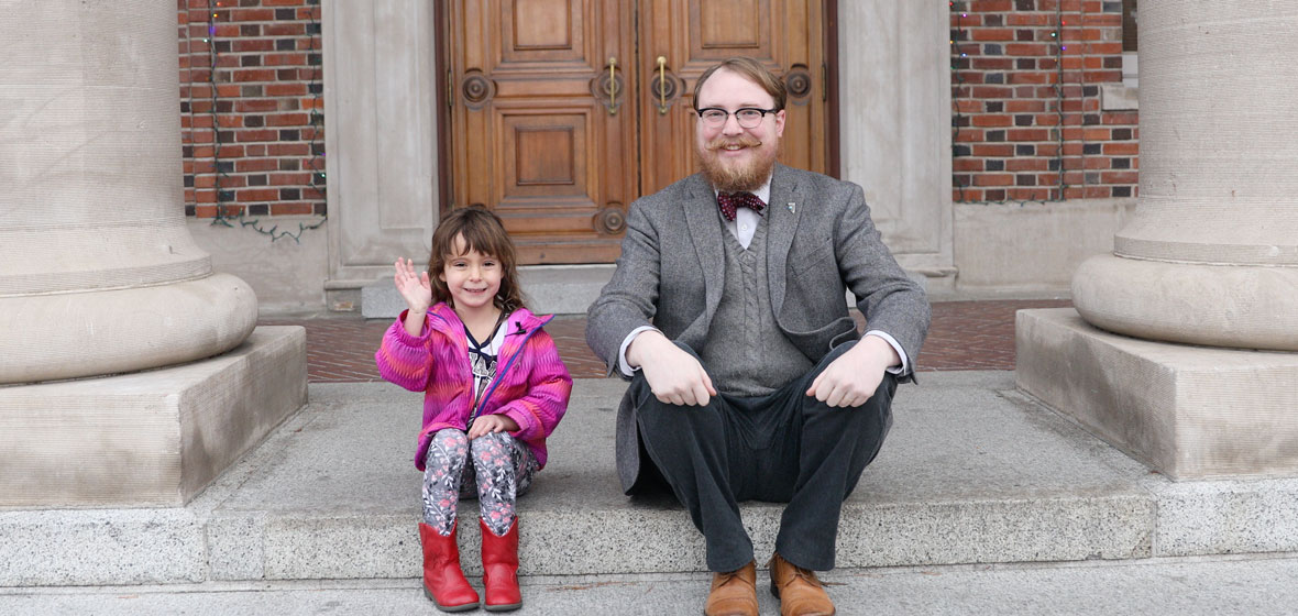 Garrett Barmore with young co-host