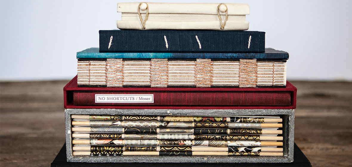 Stack of Book Arts books