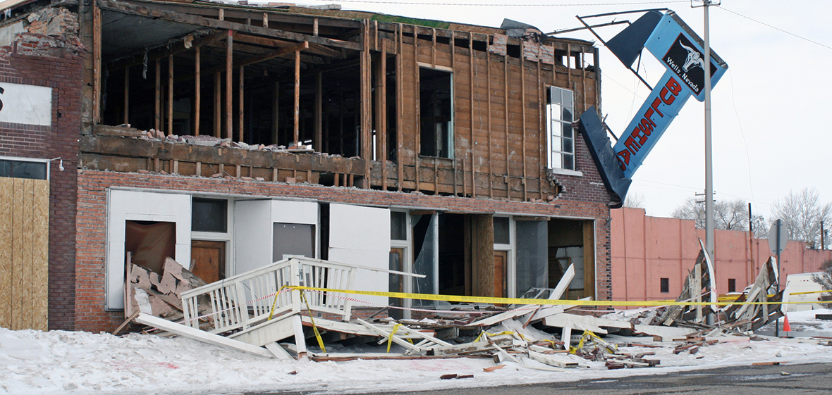Wells Nevada earthquake damage