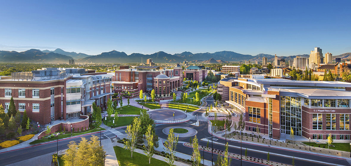 University of Nevada, Reno campus from above