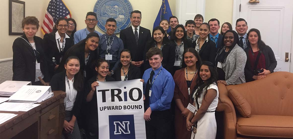 Governor Brian Sandoval with Upward Bound Students