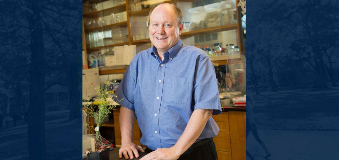 Jeff Harper in his biochemistry laboratory.
