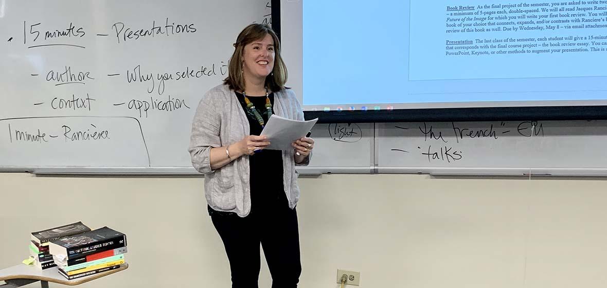 Brett Van Hoesen teaching a class at the University of Nevada, Reno