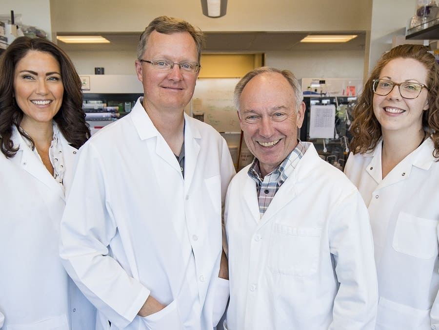 Researchers pose for photo from two UNR Med laboratories who are University's first to participate in program that helps deliver discoveries to the marketplace.