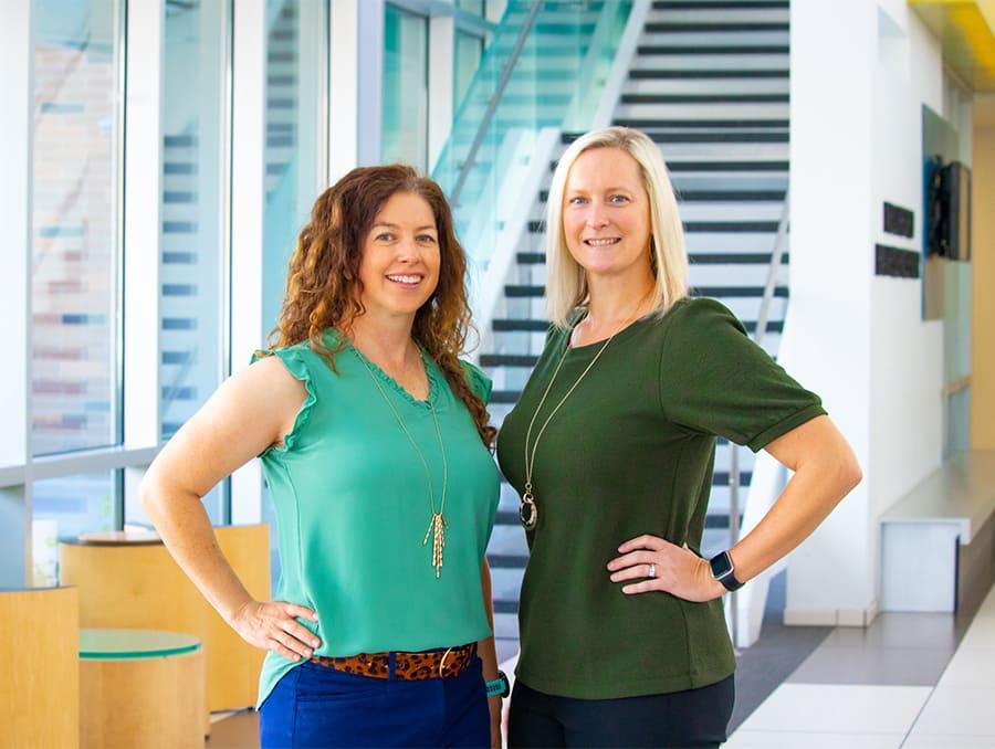 Associate Professor Abbie Olszewski and Assistant Professor Lindsay Diamond