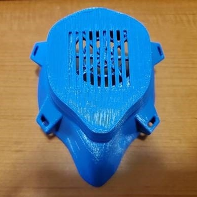 3D printed anti-bacterial respirator mask