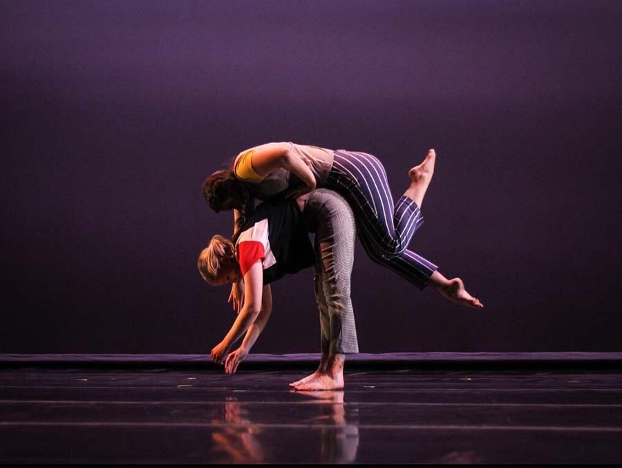 Laura Ryerson performing at last year's Spring Dance Concert with fellow dance major McKenzie Kennedy.