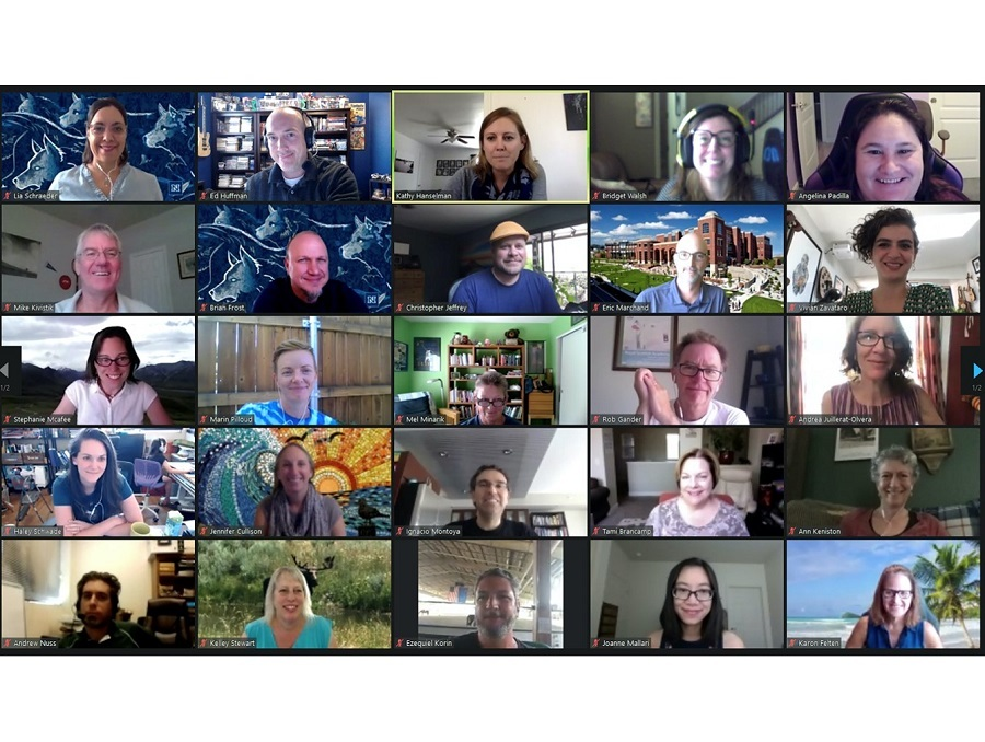 """Screenshot of 25 University faculty members and TLT 