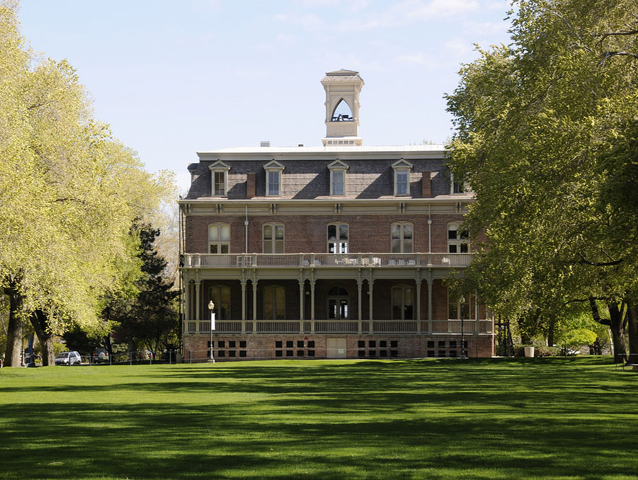 Morrill Hall on the quad during summer