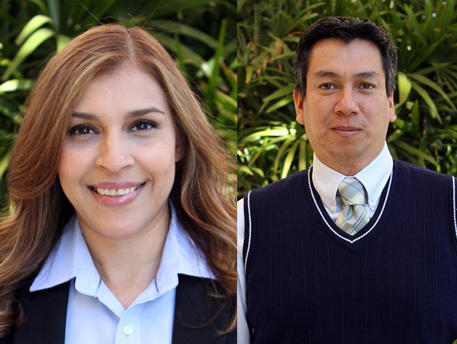 Photo of Reyna Mendez next to a photo of Juan Salas