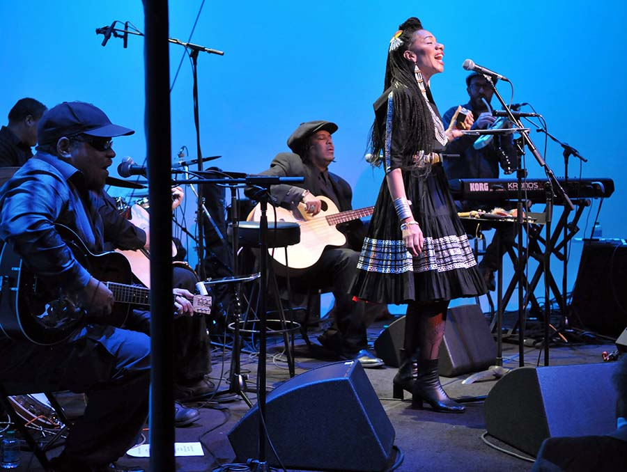Musical artist Martha Redbone and her six-piece band perform Roots Project.