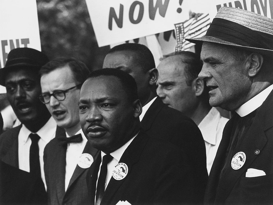Martin Luther King Jr. at the 1963 Civil Rights March in Washington, D.C.