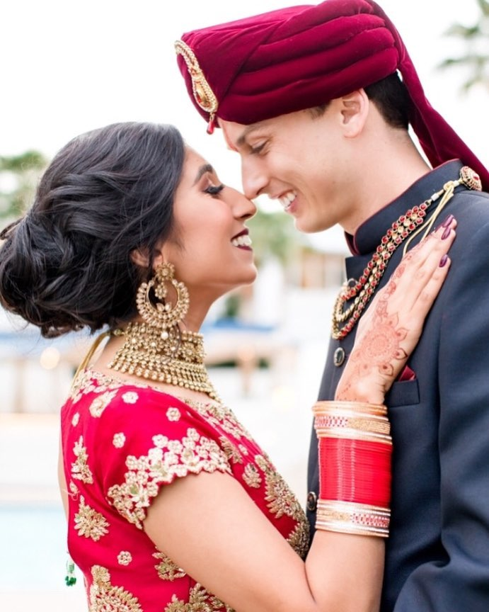 Drs. Aradhana Mehta and Lance Horner on their wedding day