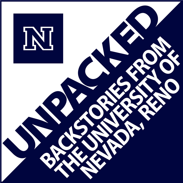 Logo for the podcast UNPACKED: Backstories from the University of Nevada, Reno