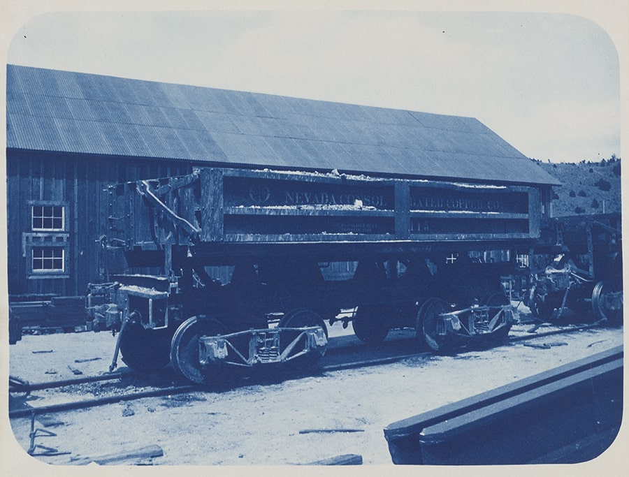Photograph of Consolidated Copper Dumping Railway Car
