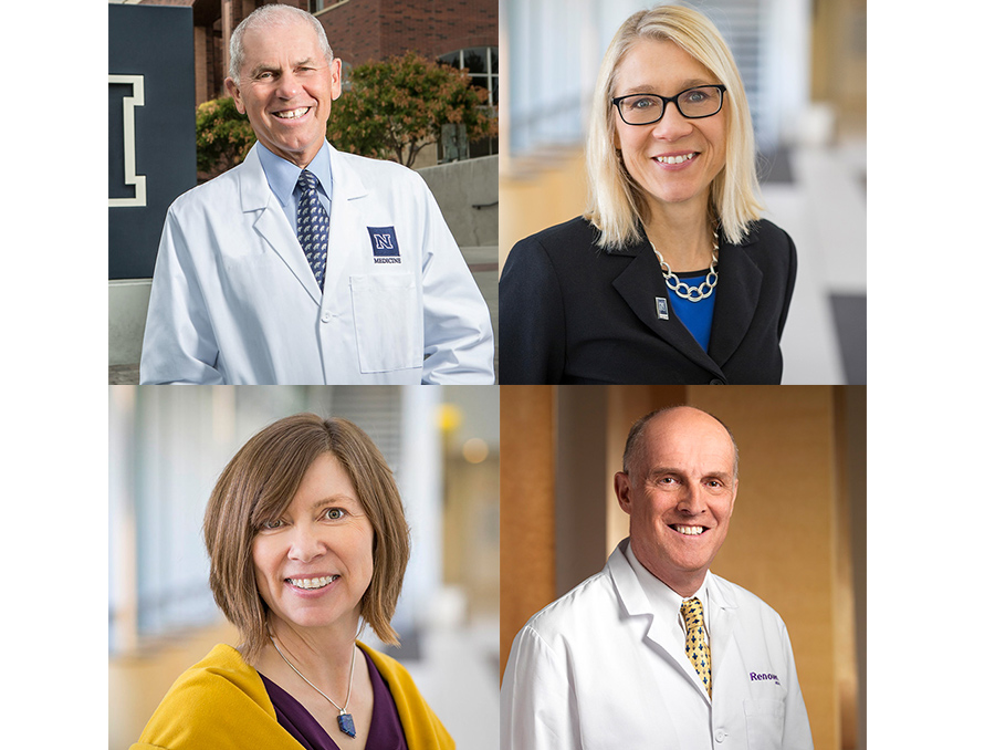 Headshots of the med professors in this article. Dr Hagen Dr. Schwenk, Dr. Piaseki and Dr. Coppes
